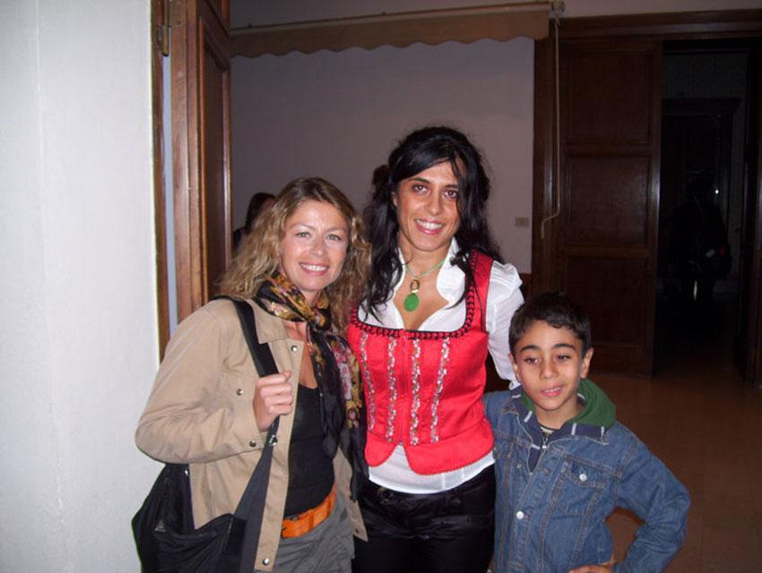 Con Amanda Sandrelli