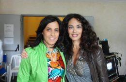 Con Maria Grazia Cucinotta